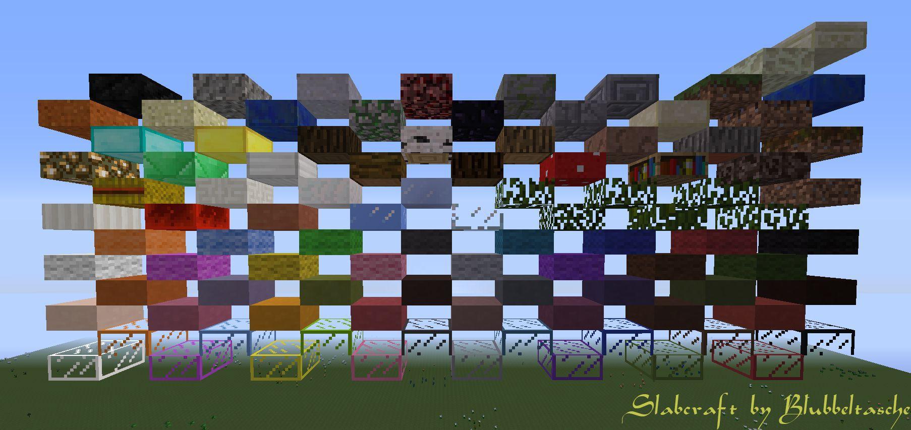 Minecraft как сделать полу