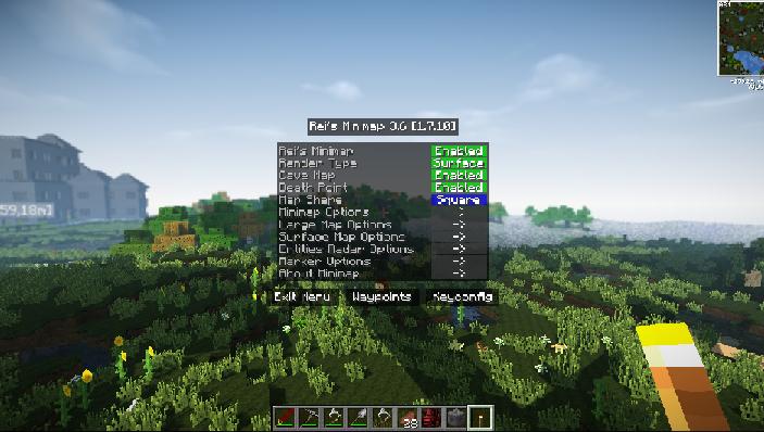 Rei's Minimap Mod minecraft 1.12