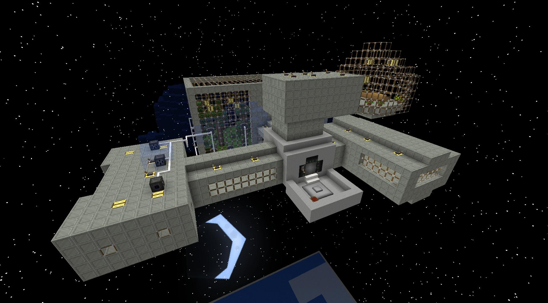 Карта космическая станция на майнкрафт 1.12.2