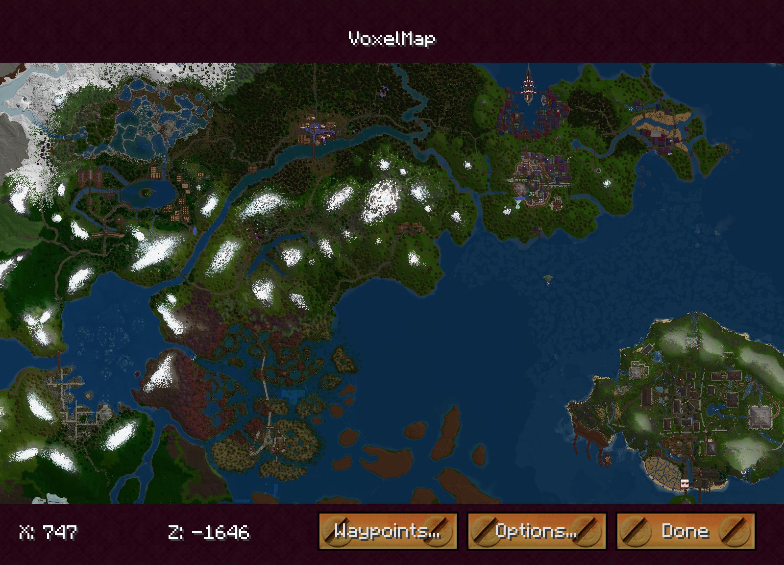 Мод на мини карту для Майнкрафт 1.7.10