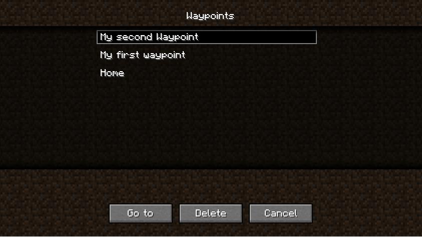 Скачать Мод Waypoints для Minecraft 1.7.2