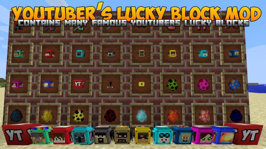 youtubers-lucky-block-mod