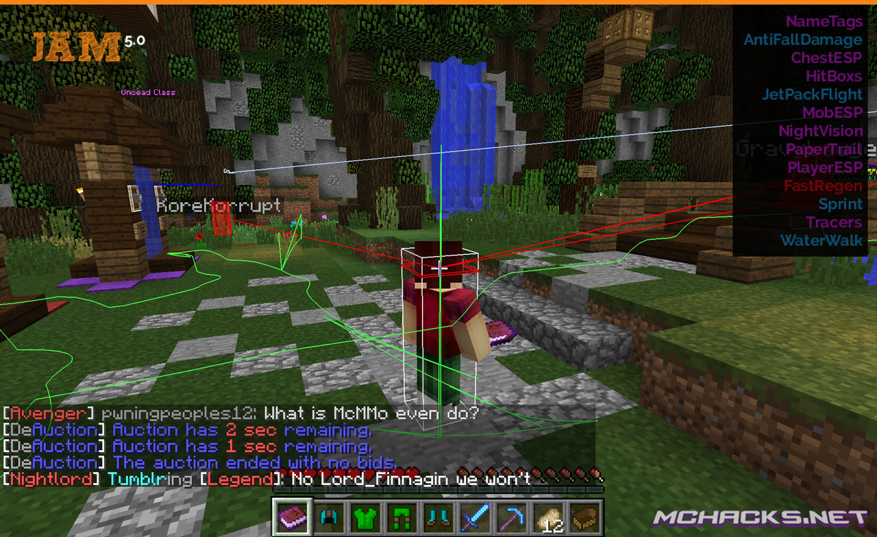 Jam Hacked Client For Minecraft 1 17 1 1 16 5 Minecraftore