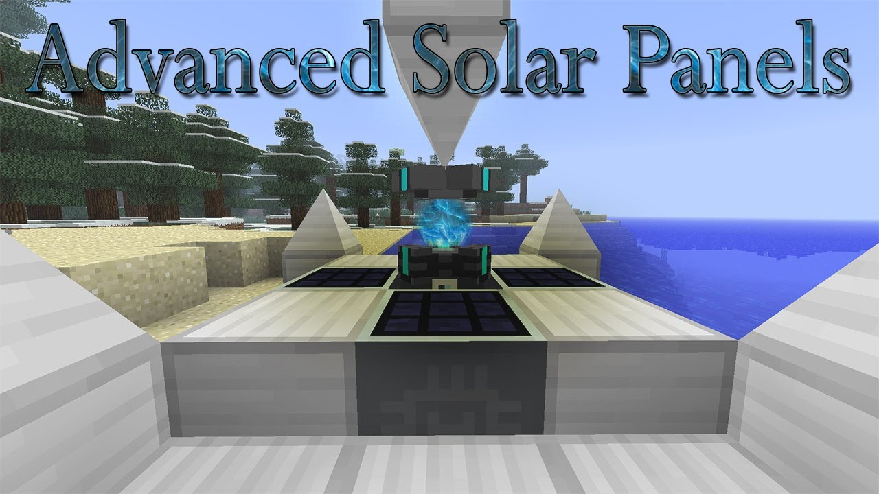 Advanced solar panels mod for minecraft for Solar energy games