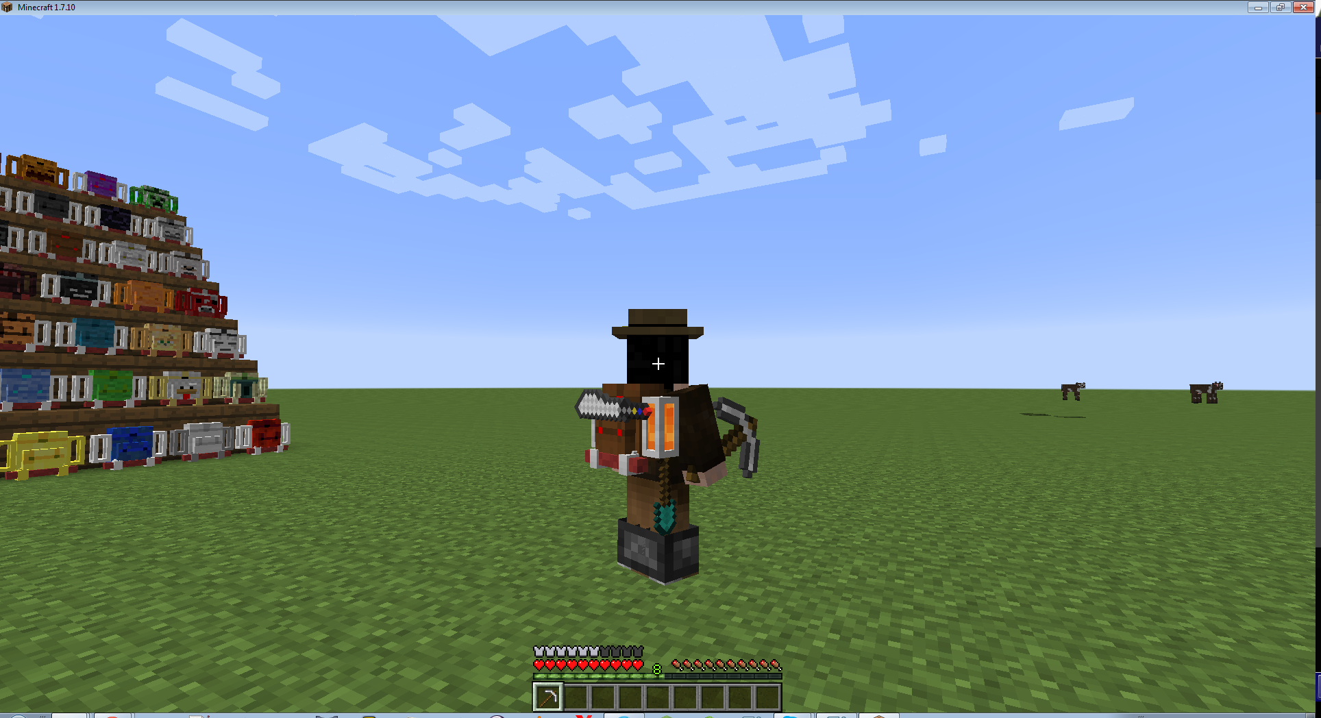 how to wear a backpack in minecraft