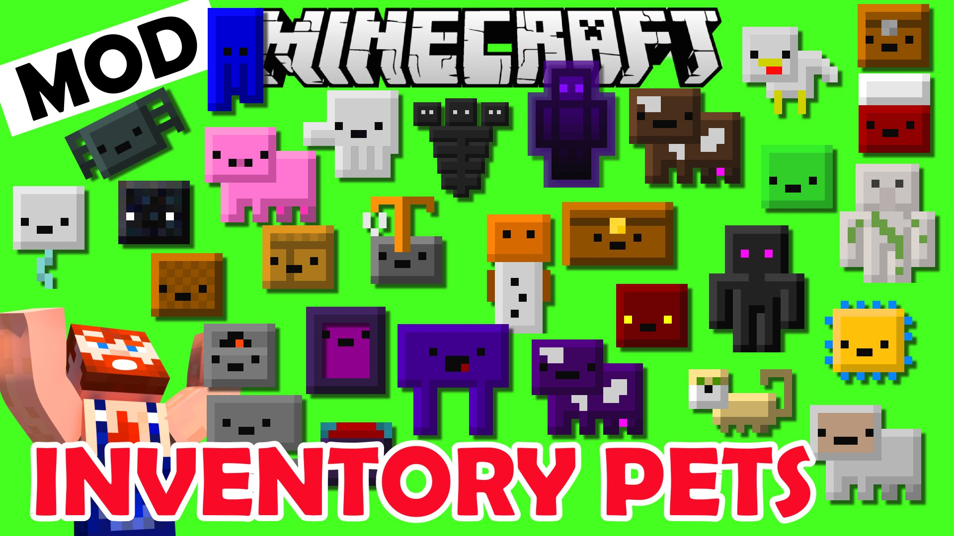 Inventory Pets Mod for Minecraft 1.11.2/1.10.2/1.9.4 ...