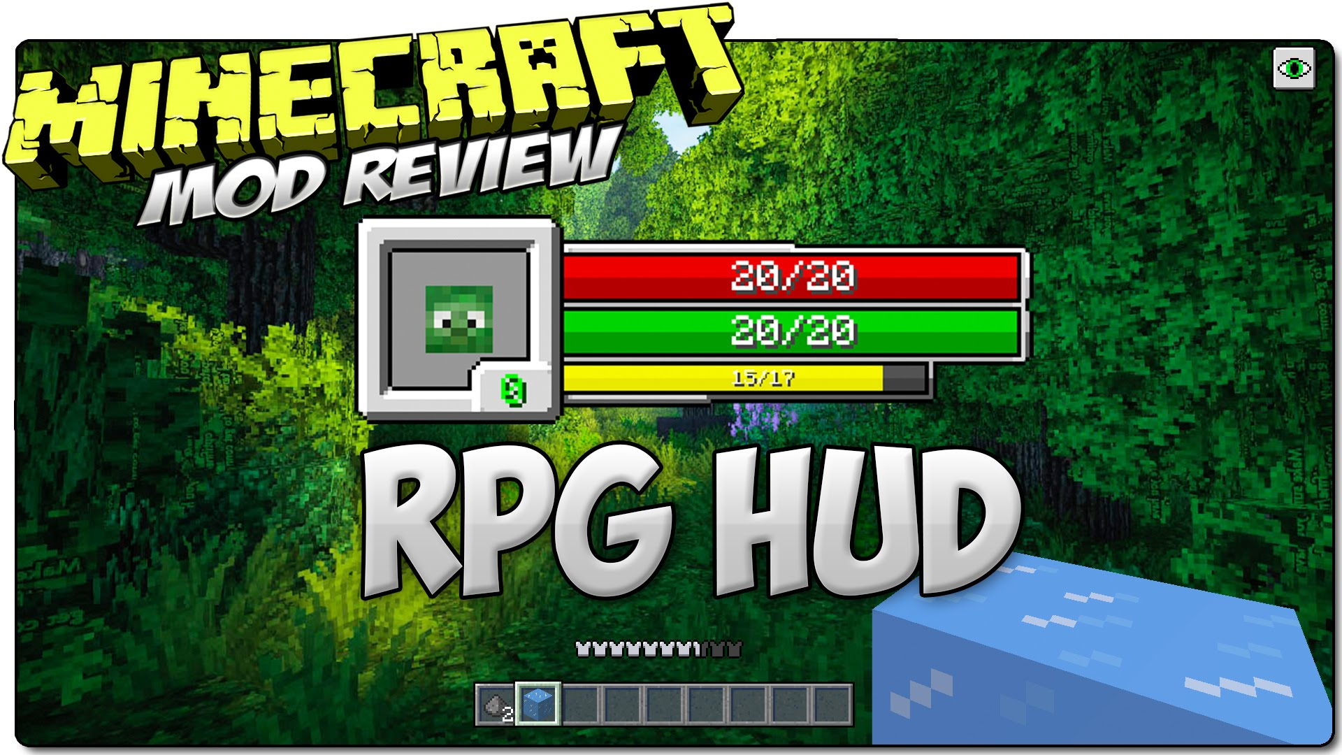 RPG-Hud Mod for Minecraft
