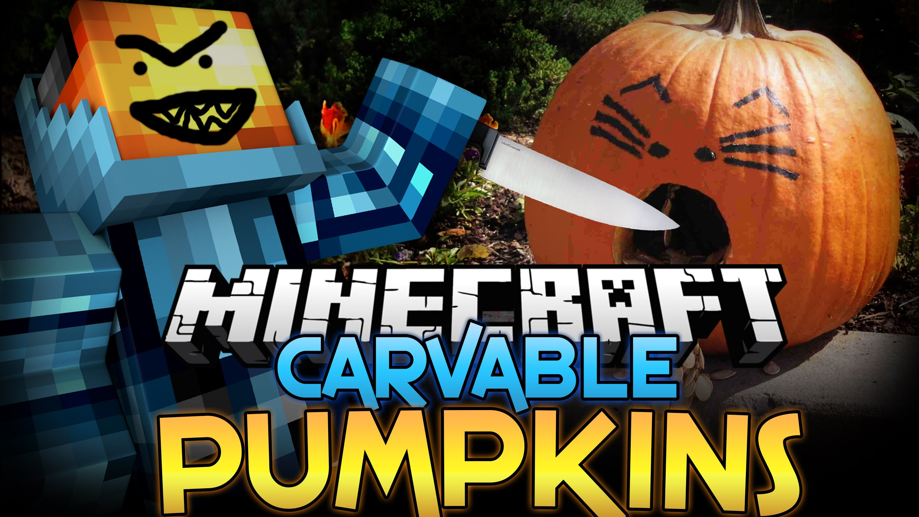 Carvable Pumpkins Mod For Minecraft 1 8 And 1 7 10